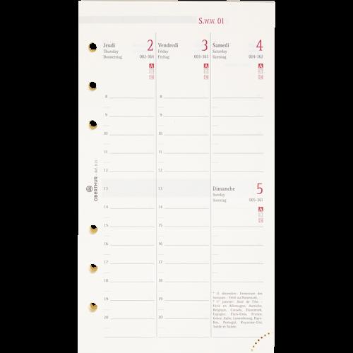 Recharge organiseur 17 semaine à la verticale