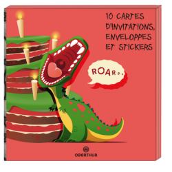 Cartes d'invitation Dinosaure