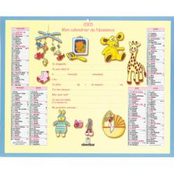 Calendrier de naissance 2005