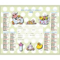 Calendrier de naissance 2007