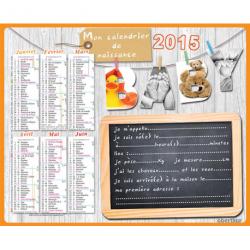 Calendrier de naissance 2015
