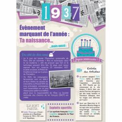 Carte anniversaire 1937