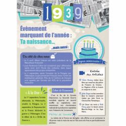 Carte anniversaire 1939