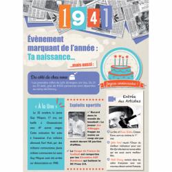 Carte anniversaire 1941