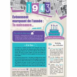 Carte anniversaire 1943