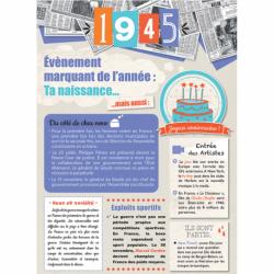 Carte anniversaire 1945