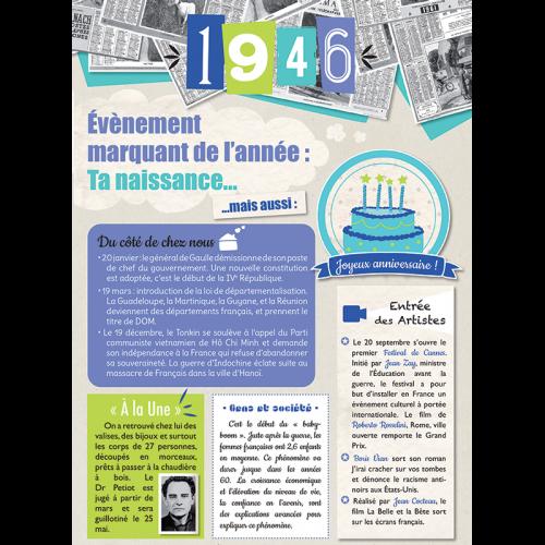 Carte anniversaire 1946