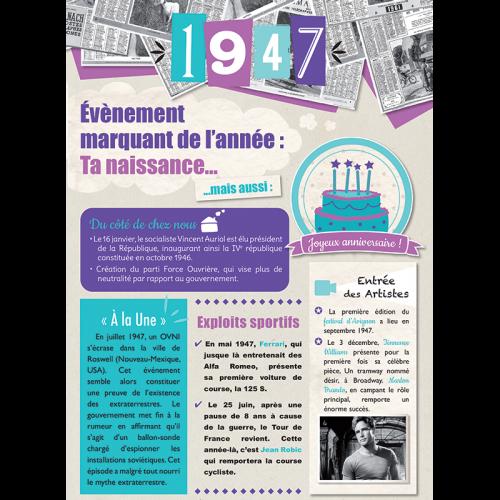 Carte anniversaire 1947