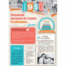 Carte anniversaire 1950