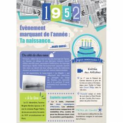 Carte anniversaire 1952