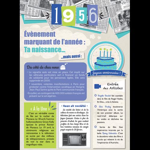Carte anniversaire 1956