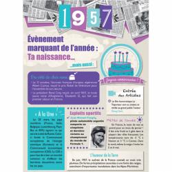 Carte anniversaire 1957