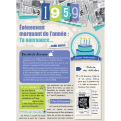 Carte anniversaire 1959