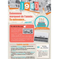 Carte anniversaire 1960