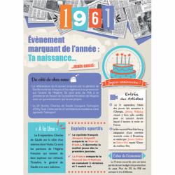 Carte anniversaire 1961