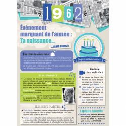 Carte anniversaire 1962