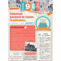 Carte anniversaire 1964