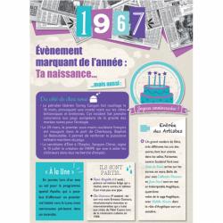 Carte anniversaire 1967