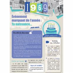 Carte anniversaire 1969