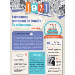Carte anniversaire 1971