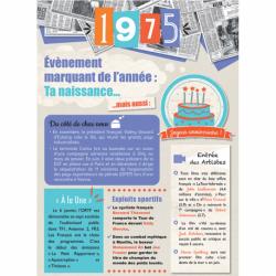 Carte anniversaire 1975