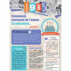 Carte anniversaire 1985